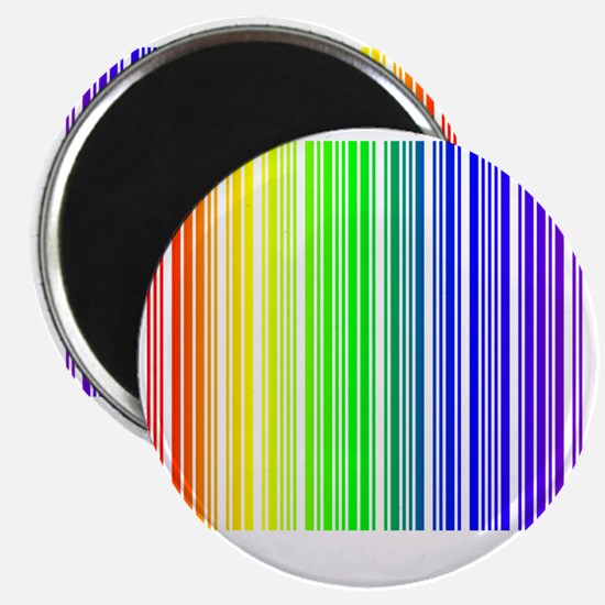 rainbow barcode Magnet