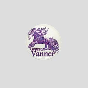 Gypsy Vanner purple Mini Button