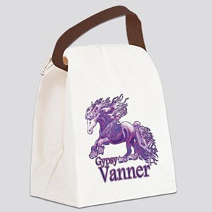 Gypsy Vanner purple Canvas Lunch Bag