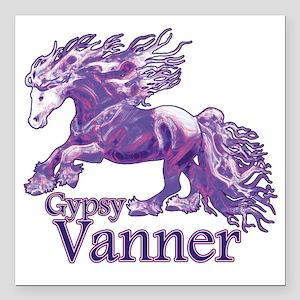 "Gypsy Vanner purple Square Car Magnet 3"" x 3"""