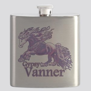 Gypsy Vanner purple Flask