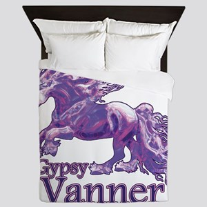 Gypsy Vanner purple Queen Duvet