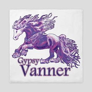 Gypsy Vanner purple Queen Duvet