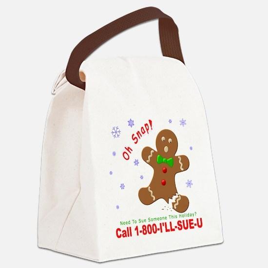 Gingerbread Man Law Suit3 3D Dk Canvas Lunch Bag