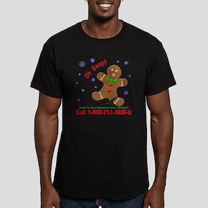 Gingerbread Man Law Su Men's Fitted T-Shirt (dark)