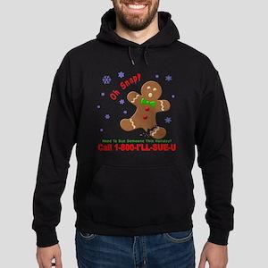 Gingerbread Man Law Suit3 3D Dk Hoodie (dark)
