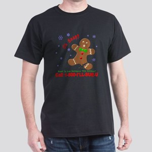 Gingerbread Man Law Suit3 3D Dk Dark T-Shirt