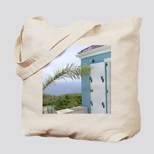 Bedroom overlooking the seas, St. Croix,  Tote Bag