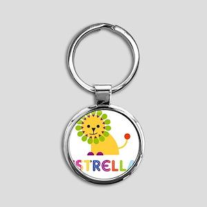 Estrella-the-lion Round Keychain