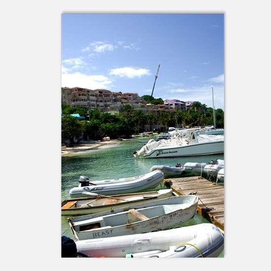 Cruz Bay. Boats in the ha Postcards (Package of 8)