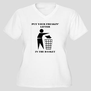 LITTER Women's Plus Size V-Neck T-Shirt