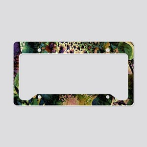 Passionately Floral License Plate Holder