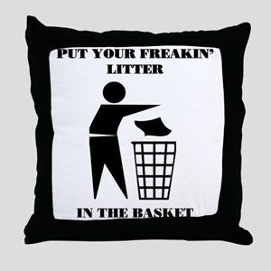 LITTER2 Throw Pillow