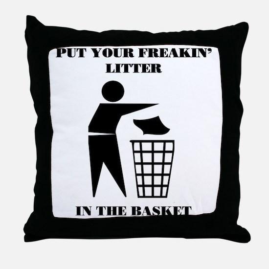 LITTER2 Throw Pillow