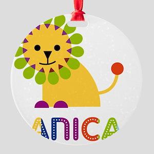 Danica-the-lion Round Ornament