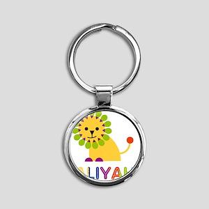 Jaliyah-the-lion Round Keychain