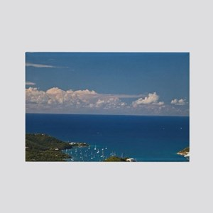 A view of Hull Bay in St. Thomas Rectangle Magnet