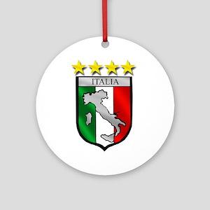 Italia Shield Ornament (Round)