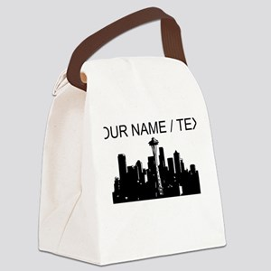 Custom Seattle Canvas Lunch Bag