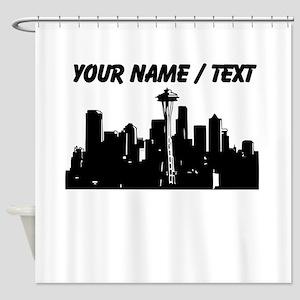 Custom Seattle Shower Curtain