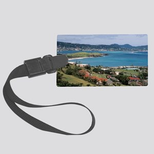 View of Christiansted from above Large Luggage Tag
