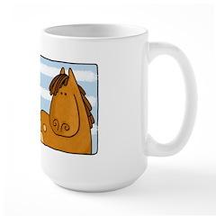 horse and birds Large Mug