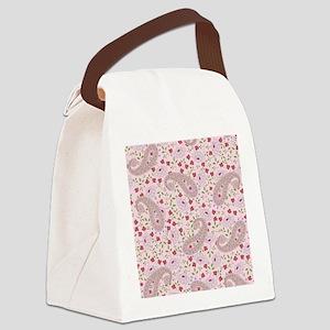 PinkPaisleyFlipFlops Canvas Lunch Bag