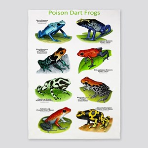 Poison Dart Frogs 5'x7'Area Rug