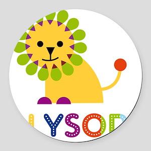 Alyson-the-lion Round Car Magnet