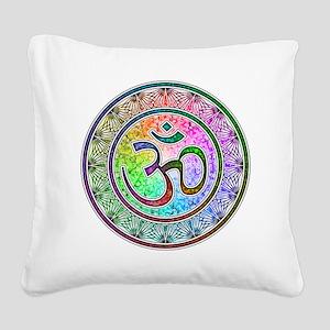 OM-mandala Square Canvas Pillow