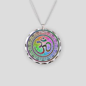 OM-mandala Necklace Circle Charm