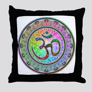 OM-mandala Throw Pillow
