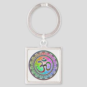 OM-mandala Square Keychain