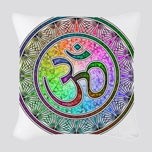 OM-mandala Woven Throw Pillow