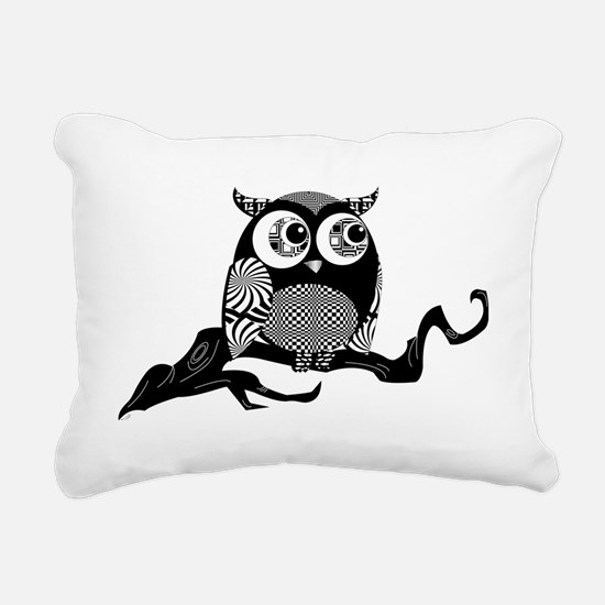 graphic owl Rectangular Canvas Pillow