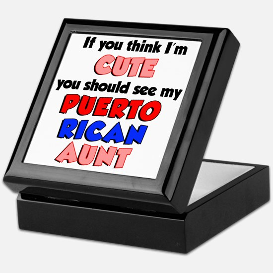 Cute Puerto Rican Aunt Keepsake Box