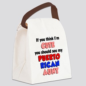Cute Puerto Rican Aunt Canvas Lunch Bag