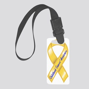 GOLD Ribbon CURE 4 KIDS CANCER10 Small Luggage Tag