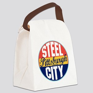Pittsburgh Vintage Label W Canvas Lunch Bag