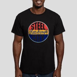 Pittsburgh Vintage Lab Men's Fitted T-Shirt (dark)