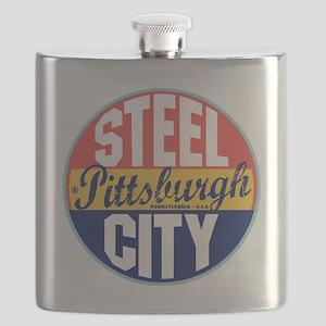 Pittsburgh Vintage Label W Flask