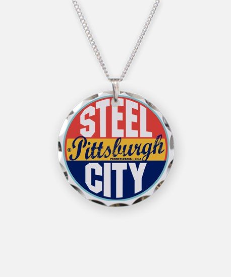 Pittsburgh Vintage Label W Necklace