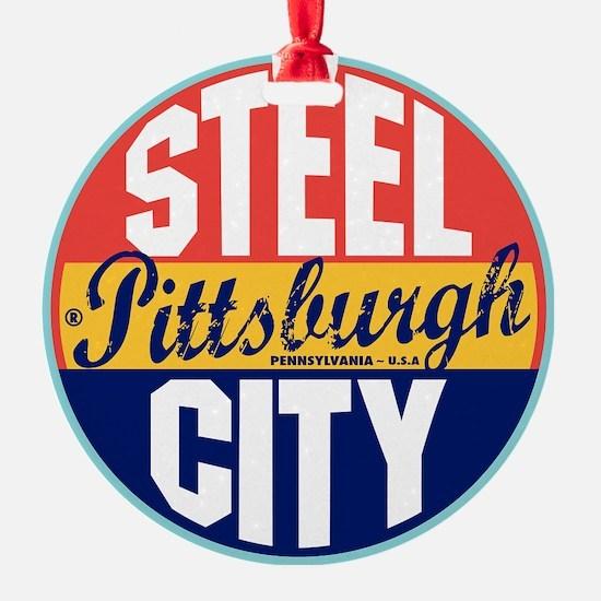 Pittsburgh Vintage Label W Ornament