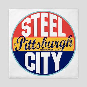 Pittsburgh Vintage Label W Queen Duvet