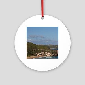 Coastline view by El TunelIsabela,  Round Ornament