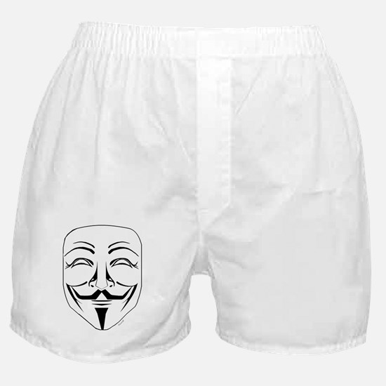 Anonymous Mask Stencil Boxer Shorts