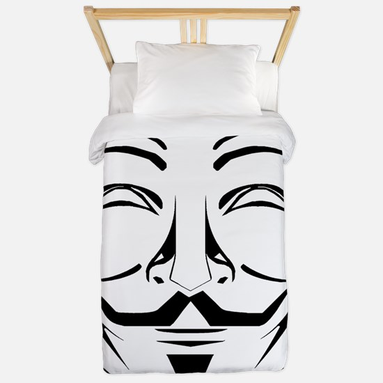 Anonymous Mask Stencil Twin Duvet