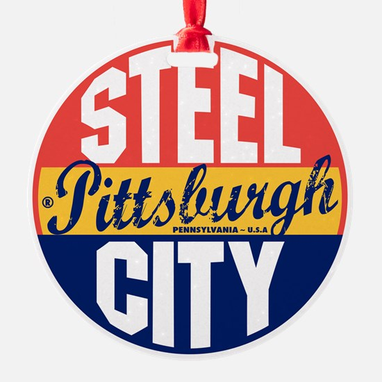 Pittsburgh Vintage Label B Ornament