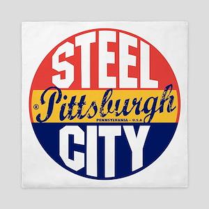 Pittsburgh Vintage Label B Queen Duvet
