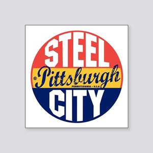 "Pittsburgh Vintage Label B Square Sticker 3"" x 3"""